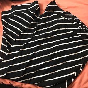 Torrid striped maxi skirt